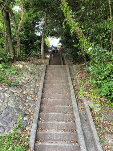 広島市 牛田総合公園バラ園 に続く階段