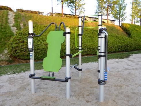 佐伯総合スポーツ公園、幼児の広場に健康器具