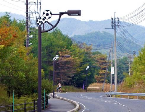 吉田サッカー公園 公園前の通り