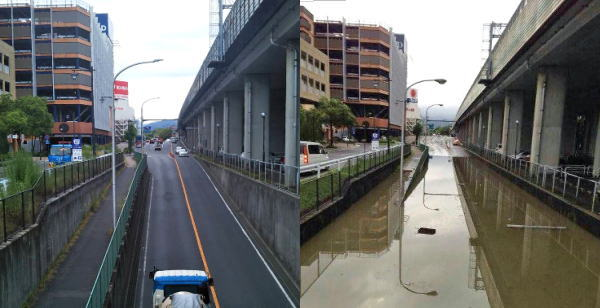 運転中、車が冠水した道路で動けなくなった時は