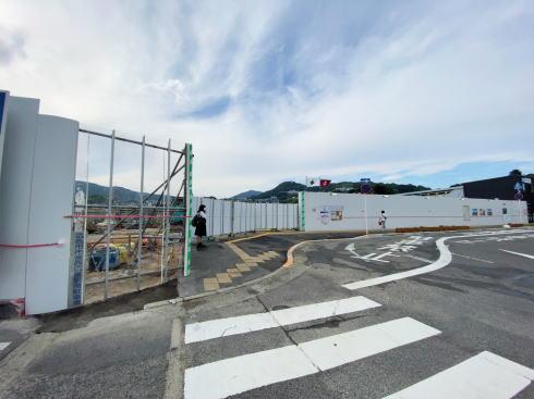 解体中のJR西広島駅 俯瞰写真