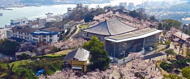尾道市立美術館 俯瞰写真