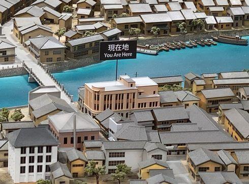 レストハウス3F ジオラマで見る旧中島町