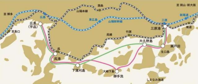 シースピカ 運航コース 図