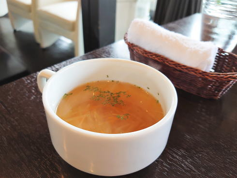 安芸高田市 珈琲庵 舞 ランチセットのスープ