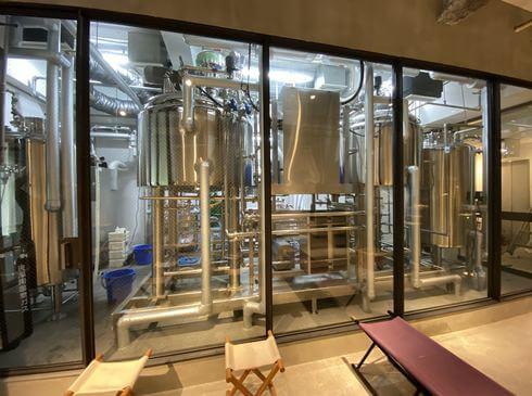 広島のビール醸造所 ヒロシマネイバリーブリューイングの仕込み釜