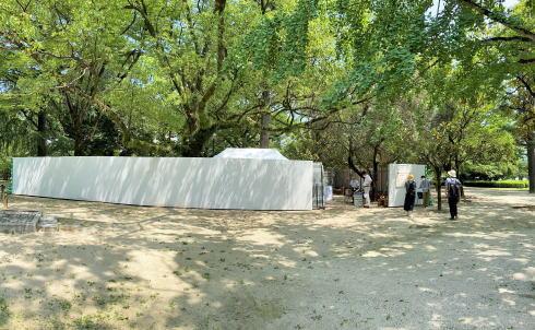 広島平和記念公園 被爆遺構 限定展示の様子
