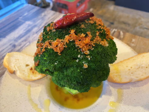 廿日市市阿品 ユバ(yuba)まるごとブロッコリーのアヒージョ