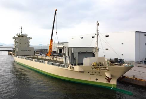 カルビーのじゃがいも輸送船、ポテト丸!北海道から広島へ