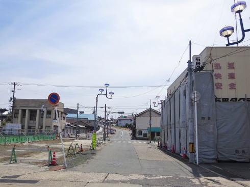 備後庄原駅 駅前工事中の様子