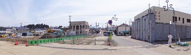 備後庄原駅 駅前工事中の様子2