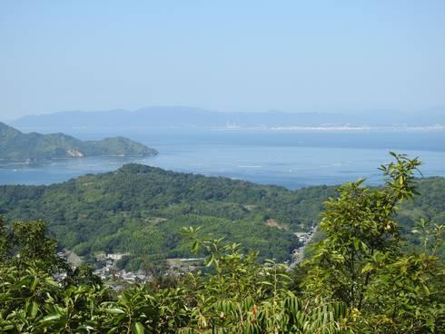 真道山展望台 展望台からの眺め