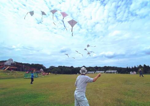 全国一斉凧揚げ!コロナ終息の願い込め空へ 広島では丘陵公園