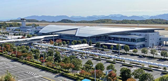 広島空港と広島空港駐車場