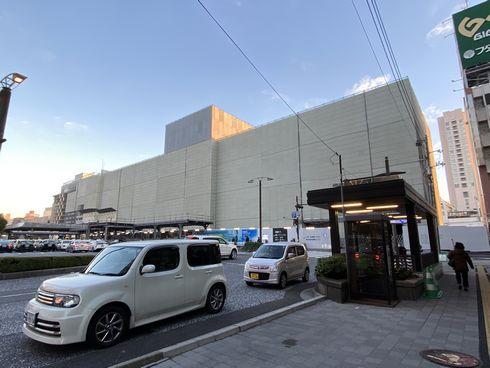 広島駅ビル 工事中の様子