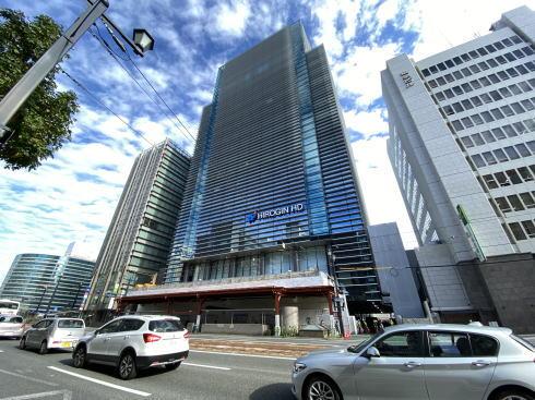 広島銀行本店 建て替え 工事中の様子2020年11月