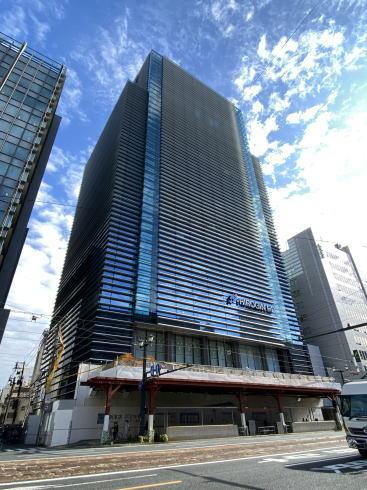 広島銀行本店 建て替え 工事中の様子2020年11月 2