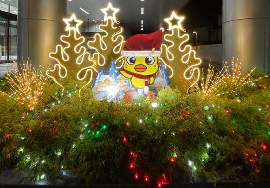 広島テレビのクリスマス装飾