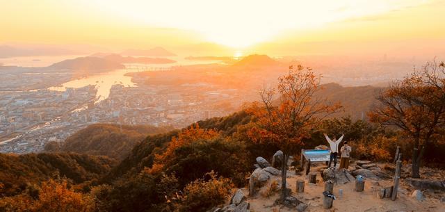 日浦山(ひのうらやま)海田から見渡す景色!初心者向け登山コースを行く