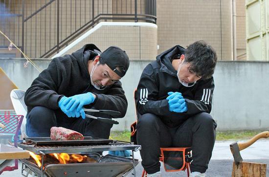 TSSのカープ新春特番、長野キャンプ場で特上キャンプ飯づくり