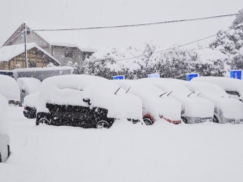 再び強烈寒波で広島にも雪、交通に乱れ 運行取りやめも