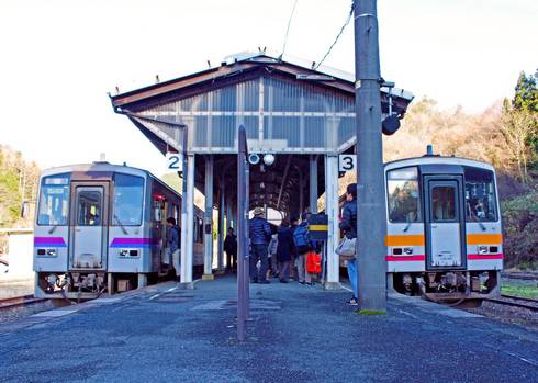 JR備後落合駅 2番3番のりば