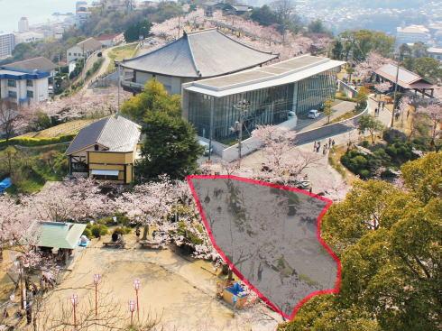 千光寺公園 展望台リニューアル 立ち入り禁止エリア2