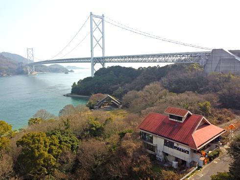 因島 はっさく屋、窓からの眺め