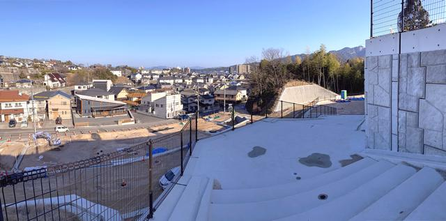 チチヤス大野ふれあい公園(大野東部公園)から見た街の風景