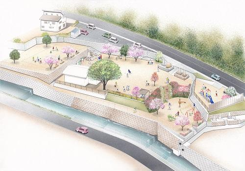 広島県坂町で小屋浦公園を再整備、豪雨災害・追悼の場として「防災公園」へ
