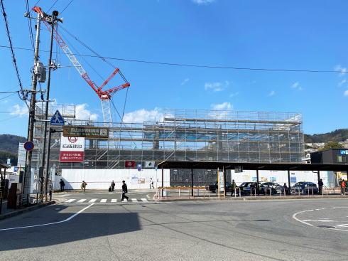 JR西広島駅 新駅舎建設中の様子