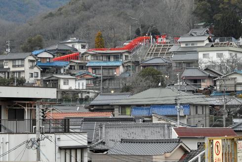 三原市・大島神社に連立鳥居が誕生