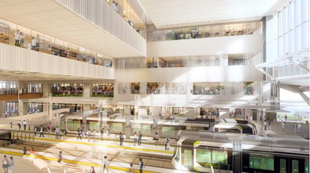 建替え中の 広島新駅ビル 広場デザイン公開、完成イメージ具体的に