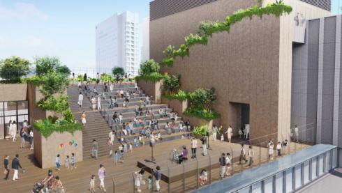 広島新駅ビル 屋上広場イメージ