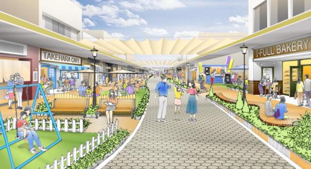 竹原市が未来予想図「あいふる通り」10年後ビジョン公開、駅前に賑わいを!