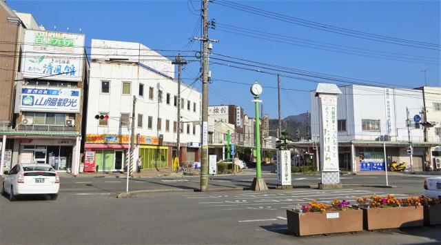 竹原駅前 あいふる通り入口の様子
