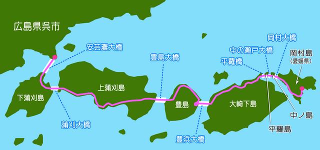 とびしま海道 マップ