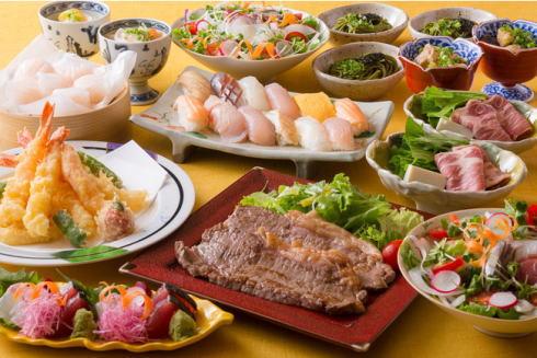 リーガ広島の日本料理店でオーダービュッフェ、限定でランチタイムにも登場