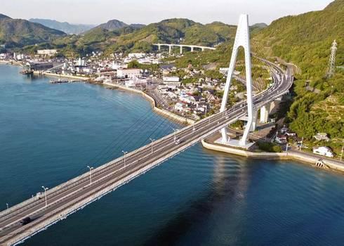 生口橋 因島から生口橋へ