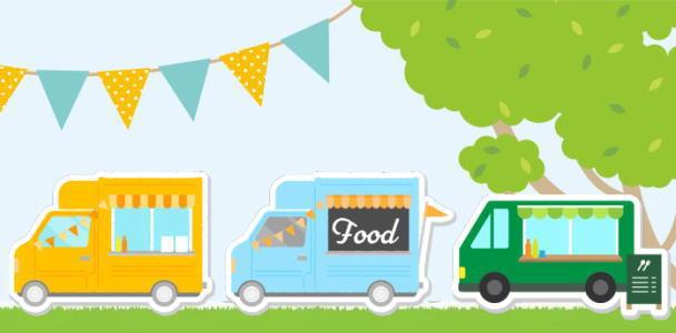 キッチンカーマルシェ開催、県内人気店が小谷SAに集合
