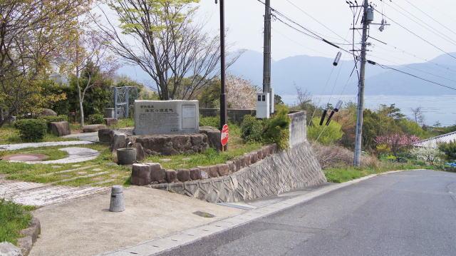 宮浜温泉の源泉「海望の源泉地」俯瞰画像