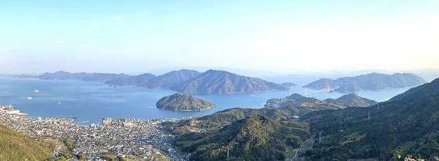 とびしま海道 ハチマキ展望台から見た風景