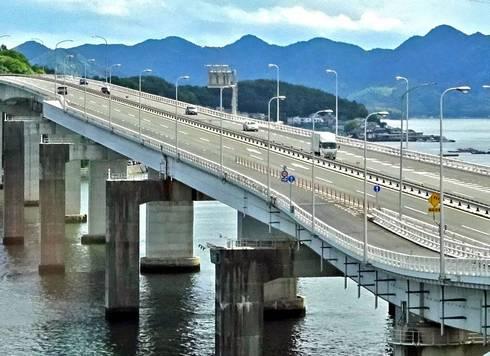 広島大橋のアップ
