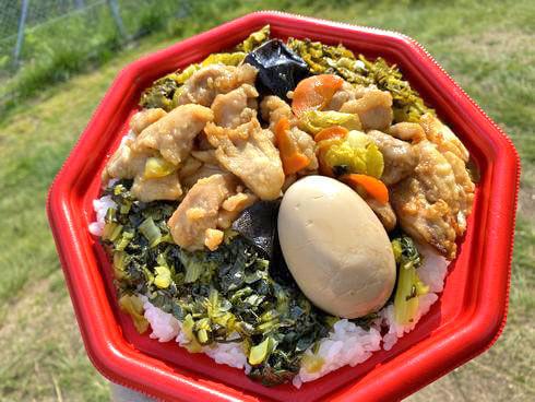 台湾鉄道弁当(鶏モモ肉)すごいボリュームで嬉しい満足感!
