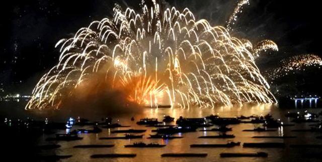 広島・宮島水中花火大会の開催打切り・終了理由