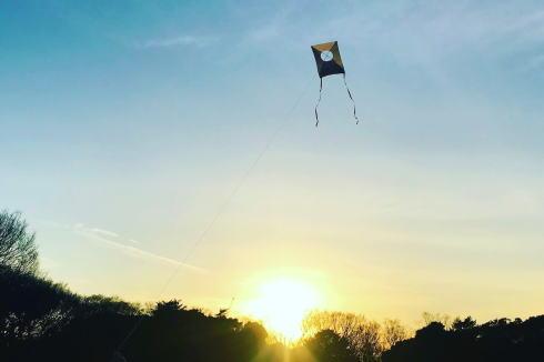 イオンモール広島府中 のがけ ワークショップ2 凧づくり