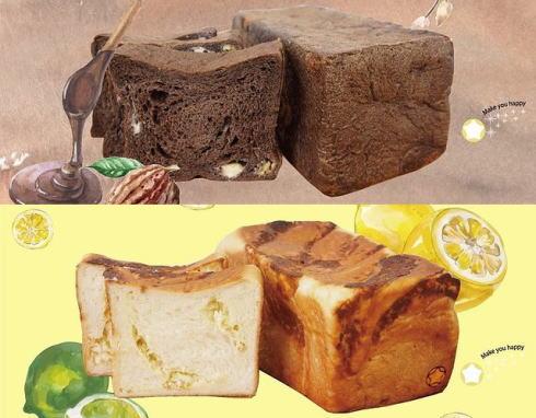 熟成生食パン・ホシノベーカリーが「フレーバー食パン」ロイヤルミルクティーやチーズなど