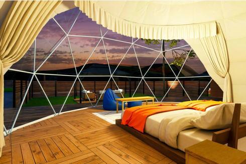グランピスパ瀬戸内、呉・大崎下島に温泉付きグランピング施設オープン、犬と宿泊OKも