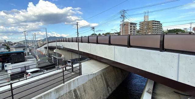 畑口寺田線の橋が完成間近、廿日市市で工事進む 2021年中に開通か