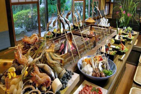 賀茂川荘 犬と泊まれるプランの夕食会場